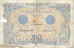 20 Francs BLEU FRANCE  1906 F.10.01 AB