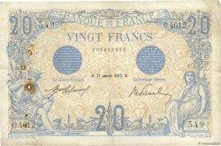 20 Francs BLEU FRANCE  1913 F.10.03 pr.TTB