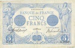 5 Francs BLEU FRANCE  1914 F.02.22 TTB