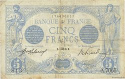 5 Francs BLEU FRANCE  1915 F.02.30 TB