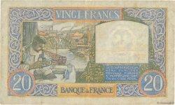 20 Francs SCIENCE ET TRAVAIL FRANCE  1940 F.12.04 pr.TTB