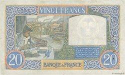 20 Francs SCIENCE ET TRAVAIL FRANCE  1941 F.12.13 TTB+