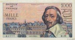 1000 Francs RICHELIEU FRANCE  1954 F.42.05 TTB+