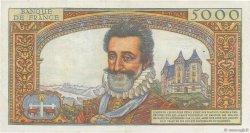 5000 Francs HENRI IV FRANCE  1957 F.49.03 TTB+