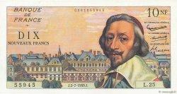 10 Nouveaux Francs RICHELIEU FRANCE  1959 F.57.02 NEUF