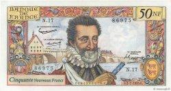 50 Nouveaux Francs HENRI IV FRANCE  1959 F.58.02 pr.SPL