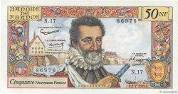 50 Nouveaux Francs HENRI IV FRANCE  1959 F.58.02 XF+