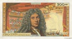 500 Nouveaux Francs MOLIÈRE FRANCE  1963 F.60.05 TTB+