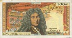 500 Nouveaux Francs MOLIÈRE FRANCE  1963 F.60.05 TB