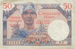 50 Francs TRÉSOR FRANÇAIS FRANCE  1947 VF.31.01 pr.TTB