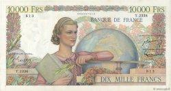 10000 Francs GÉNIE FRANÇAIS FRANCE  1952 F.50.56 SPL