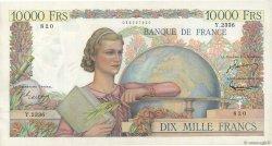 10000 Francs GÉNIE FRANÇAIS FRANCE  1952 F.50.56 pr.SPL