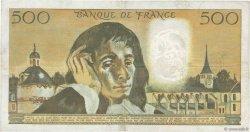 500 Francs PASCAL FRANCE  1968 F.71.01 pr.TTB