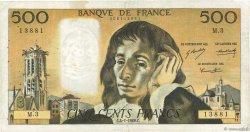 500 Francs PASCAL FRANCE  1968 F.71.01 TB