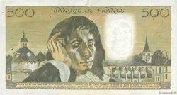 500 Francs PASCAL FRANCE  1971 F.71.07 pr.TTB