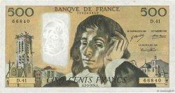 500 Francs PASCAL FRANCE  1974 F.71.11 TB+
