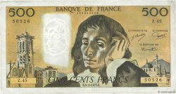 500 Francs PASCAL FRANCE  1974 F.71.12 TB+