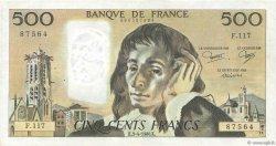500 Francs PASCAL FRANCE  1980 F.71.21 TB+