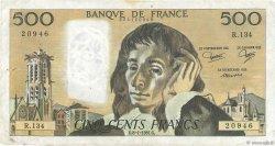 500 Francs PASCAL FRANCE  1981 F.71.23 TB