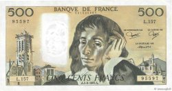 500 Francs PASCAL FRANCE  1982 F.71.27 pr.SUP