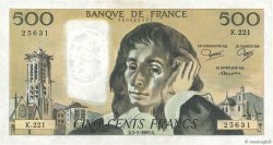 500 Francs PASCAL FRANCE  1985 F.71.32 TTB+