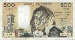 500 Francs PASCAL FRANCE  1987 F.71.37 TB