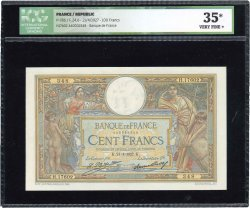 100 Francs LUC OLIVIER MERSON grands cartouches FRANCE  1927 F.24.06 TTB+