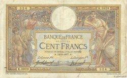 100 Francs LUC OLIVIER MERSON sans LOM FRANCE  1917 F.23.09 TB