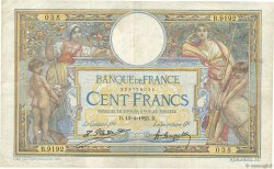 100 Francs LUC OLIVIER MERSON sans LOM FRANCE  1923 F.23.16 pr.TTB