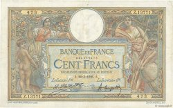 100 Francs LUC OLIVIER MERSON grands cartouches FRANCE  1926 F.24.04 TTB