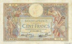 100 Francs LUC OLIVIER MERSON type modifié FRANCE  1938 F.25.10 TB+