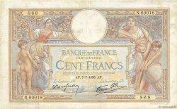 100 Francs LUC OLIVIER MERSON type modifié FRANCE  1938 F.25.25 TB