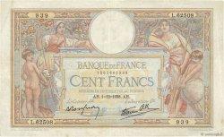 100 Francs LUC OLIVIER MERSON type modifié FRANCE  1938 F.25.35 TTB