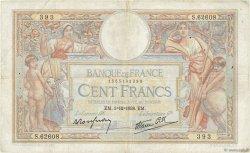 100 Francs LUC OLIVIER MERSON type modifié FRANCE  1938 F.25.35 TB