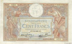 100 Francs LUC OLIVIER MERSON type modifié FRANCE  1939 F.25.41 TB+
