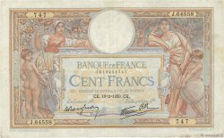 100 Francs LUC OLIVIER MERSON type modifié FRANCE  1939 F.25.43 TB+