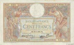 100 Francs LUC OLIVIER MERSON type modifié FRANCE  1939 F.25.44 TTB+