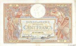 100 Francs LUC OLIVIER MERSON type modifié FRANCE  1939 F.25.48 TTB+