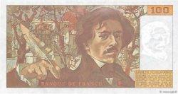 100 Francs DELACROIX imprimé en continu FRANCE  1991 F.69bis.03a1 pr.SPL