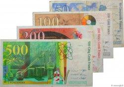 Lot de  billets BdF : Dernière Gamme FRANCE  1994 F.73-74-75-76 TB