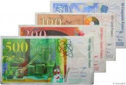 Lot de  billets BdF : Dernière Gamme FRANCE  1994 F.73-74-75-76 TTB