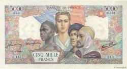 5000 Francs EMPIRE FRANCAIS FRANCE  1944 F.47.07 SUP