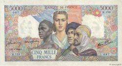 5000 Francs EMPIRE FRANÇAIS FRANCE  1944 F.47.07 pr.SUP