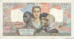 5000 Francs EMPIRE FRANÇAIS FRANCE  1945 F.47.10 TTB