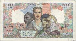5000 Francs EMPIRE FRANÇAIS FRANCE  1945 F.47.13 TB+