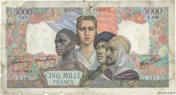 5000 Francs EMPIRE FRANÇAIS FRANCE  1945 F.47.27 AB