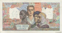 5000 Francs EMPIRE FRANÇAIS FRANCE  1945 F.47.41 TTB+