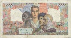 5000 Francs EMPIRE FRANÇAIS FRANCE  1945 F.47.43 TB