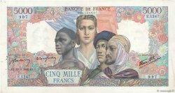 5000 Francs EMPIRE FRANÇAIS FRANCE  1945 F.47.44 TTB