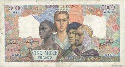 5000 Francs EMPIRE FRANÇAIS FRANCE  1945 F.47.48 B